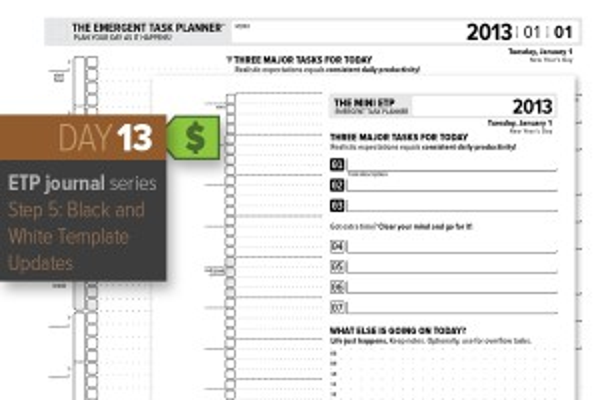 Day 13: Black&White Update to 365-day ETP Almanac