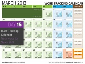 Day 15: Word Counting Calendar for March 2013
