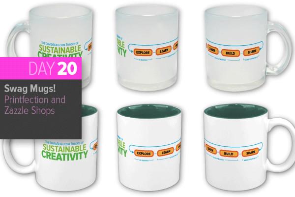 Day 20: Sustainable Creativity Coffee Mugs