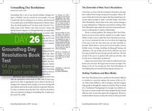 Day 26: The Groundhog Day Resolutions Year 1 Book Draft