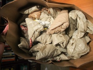 Day 19-20: 74 Plastic Bags and 1 Paper Bag