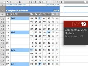Thing-a-Day 19: Compact Calendar 2015 Updates