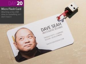 Thing-a-Day 20: Attaching a Card to a Small USB Drive