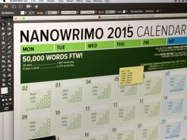 NaNoWriMo 2015 November Word Counting Calendar