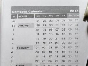 Compact Calendar 2016 Uploaded!
