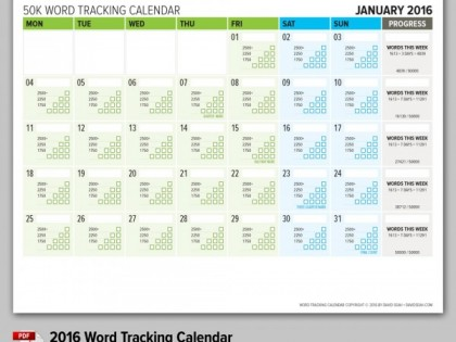2016 Word Tracking Calendar Now Available for Purchase!