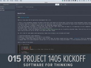 Kicking of Project 1405: Software for Thinking (GHD015)