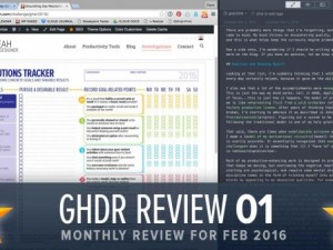 Groundhog Resolutions Review #1 (GHD031)