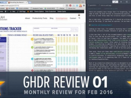 Groundhog Resolutions Review #2 (GHD062)