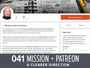 Patreon Page and Clarified Mission (GHD041)