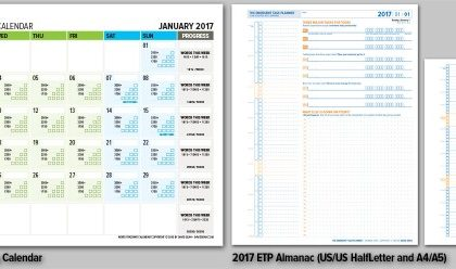 Updated Word Counting Calendar and ETP Journal for 2017!
