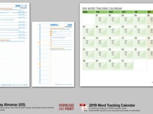 2019 Updates for Calendars and Trackers!