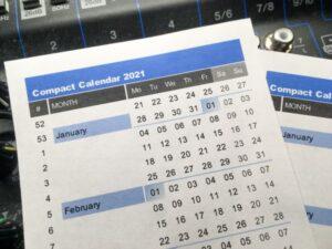 2021 Compact Calendar