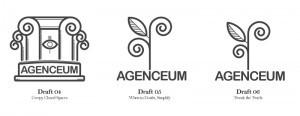 Agenceum Logo Design Drafts 2
