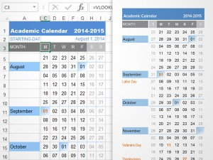 2014-2015 Academic School Year Planning Calendar