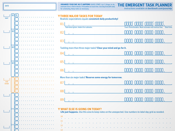 The Emergent Task Planner™ | Dave Seah