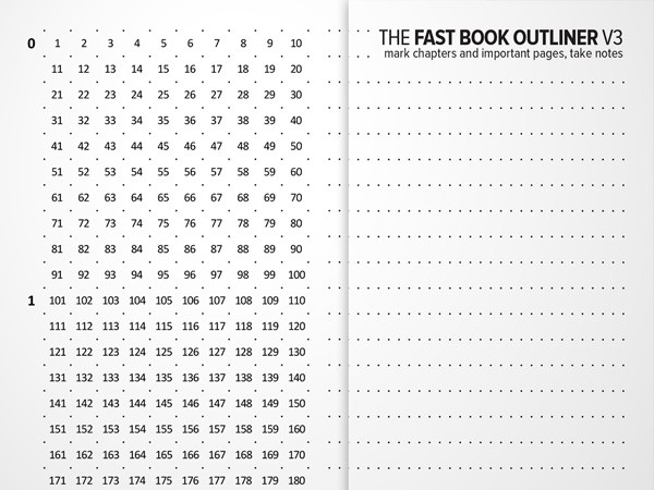 The Fast Book Outliner
